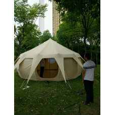4m Waterproof Lotus Tent Family Camping Canvas Tent
