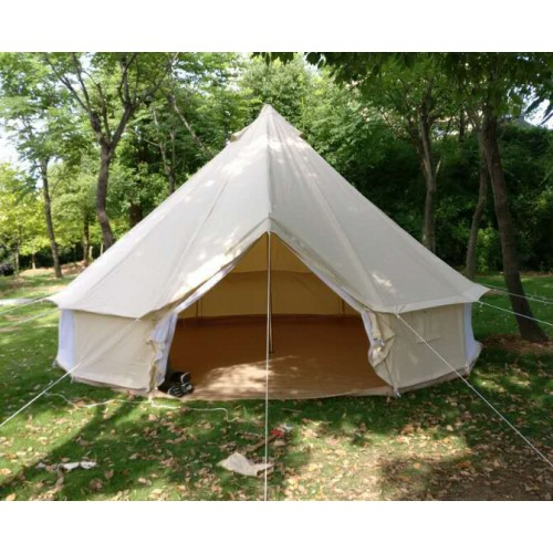 4m family camping canvas tent